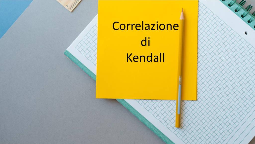 correlazione statistica di kendall