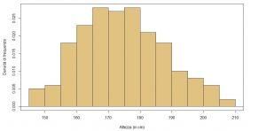 istogramma densità esempio