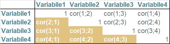 struttura matrice di correlazione